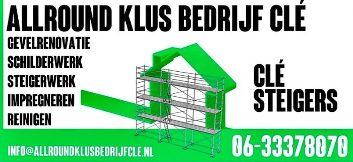 tel: 0633378070 Email: info@allroundklusbedrijfcle.nl